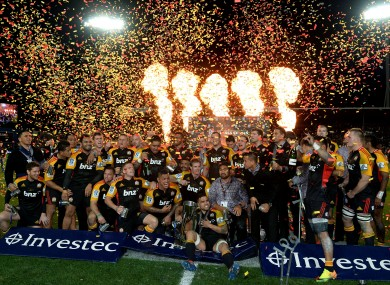 The Chiefs celebrate their 2013 Super Rugby title.