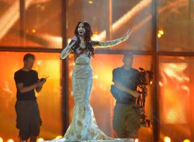 Austrian hopeful Conchita at the Eurovision