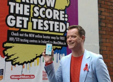 Performer Rory O'Neill at a Man2Man sexual health awareness launch.