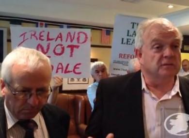 Mattie McGrath TD and activist Jerry Beades.