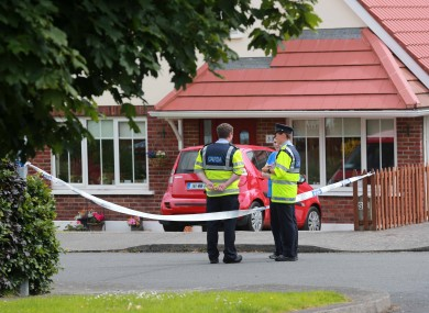 Scene in Bray on Friday following the discovery of the woman's body.