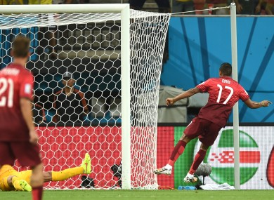 Nani scores for Portugal.