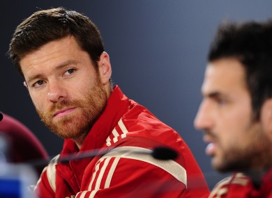 Xabi Alonso has played his final game for Spain.
