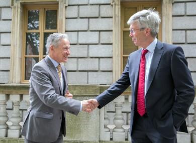 Minister Richard Burton and Tom O'Carroll