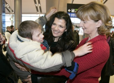 Ali Hewson joined Adi Roche in Dublin Airport in 2011 to give a warm welcome to children arriving from the heart of the Chernobyl regions.