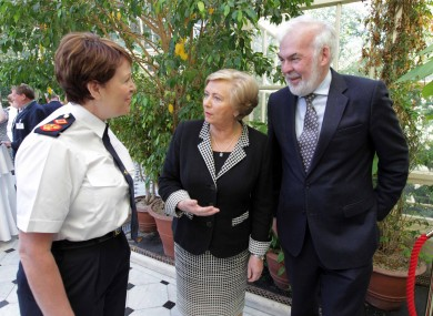 Acting Garda Commissioner Noirin O'Sullivan, Justice Minister Frances Fitzgerald TD and event chair Tom Arnold at the Consultation Seminar on Justice Reform today.