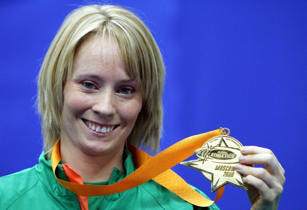 Derval O'Rourke with her World Indoor Championship gold in 2006