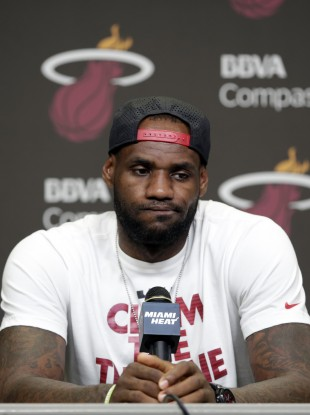LeBron won NBA rings with the Heat in 2012 and 2013.