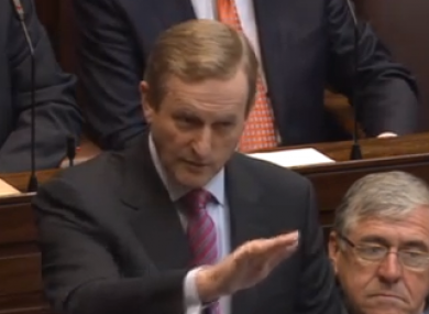 Enda Kenny in the Dáil today.
