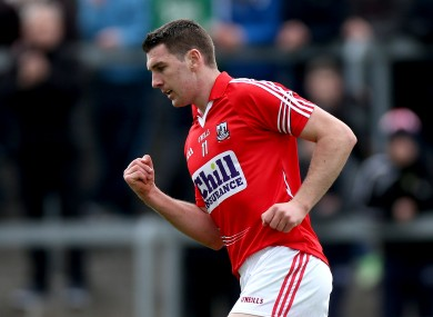 Mark Sugrue was in action for the Cork juniors today.