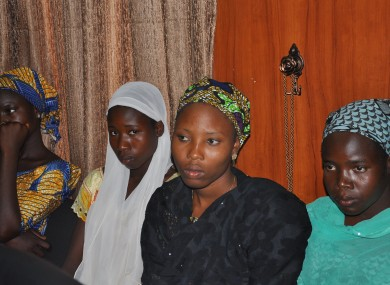 Some of the escaped Kidnapped girls