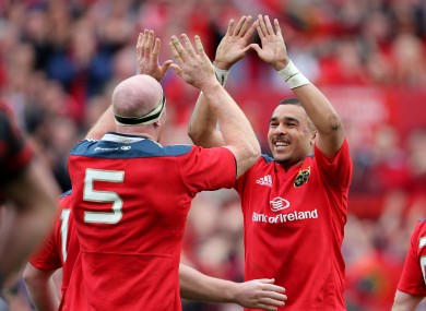 Paul O'Connell and Simon Zebo may not be too happy about Munster's draw.