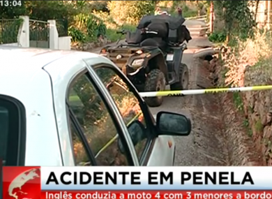 Footage of the scene of the accident.