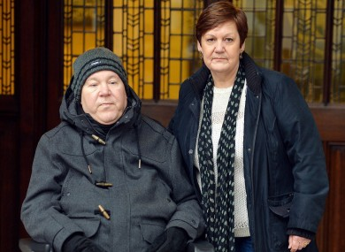 File photo of Paul Lamb and Jaskie Nicklinson whose late husband suffered locked-in syndrome.