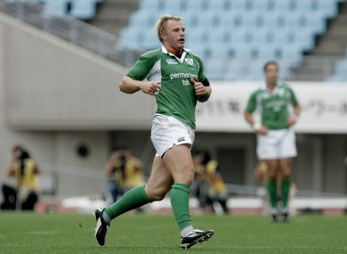 Roger Wilson making his debut for Ireland against Japan in 2005.