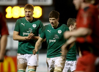 Ross Molony and Ireland U20 captain Jack O'Donoghue.