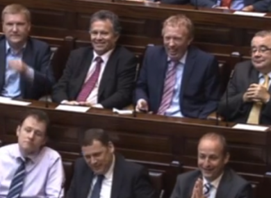 Fianna Fáil TDs were highly-amused by Enda Kenny's comments today.