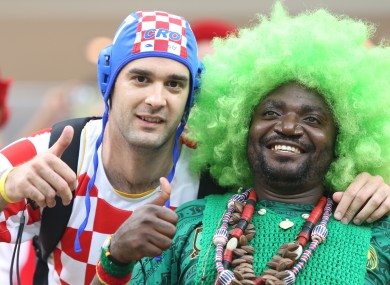 The World Cup group A game between Cameroon and Croatia is under investigation.