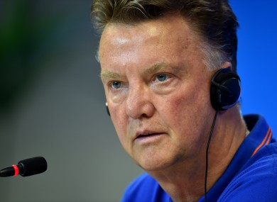 Netherlands coach Louis van Gaal.