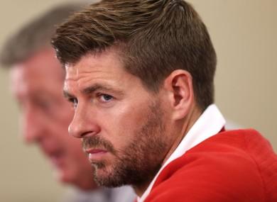 Captain Steven Gerrard speaks to the media at Barry Universit