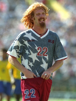 Alexi Lalas, USA's star soccer guy at the 1994 World Cup