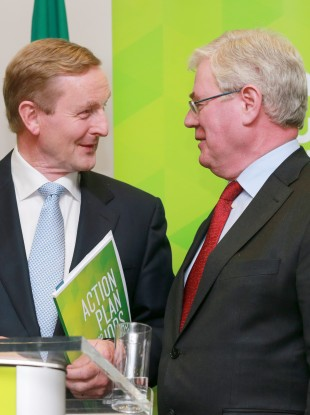 Enda and Eamon (File photo)