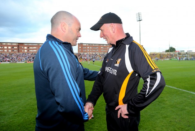 Anthony Daly and Brian Cody at the final whistle