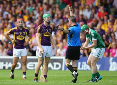 Matthew O'Hanlon's late red card summed up a tough day for Wexford.