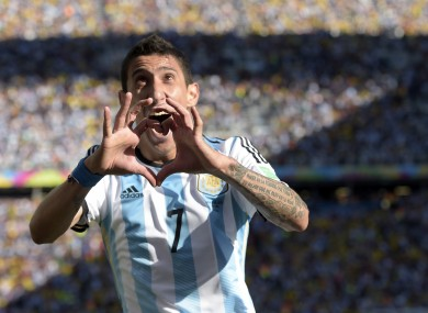 Di Maria celebrates his dramatic winner.