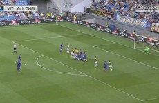 Fabregas curls 25-yard free-kick in for his first Chelsea goal