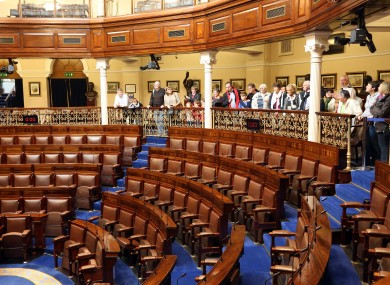 File photo of the public gallery of Dáil Éireann
