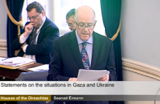 Watch: Flanagan addresses Seanad, as politicians return to debate Gaza