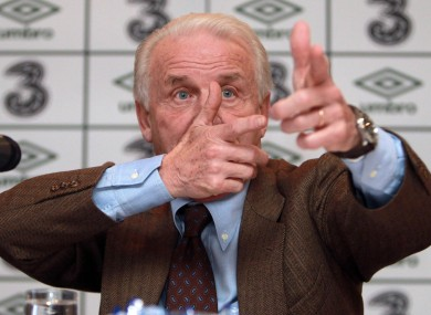 Trapattoni pictured in 2010 during his spell as Ireland manager.
