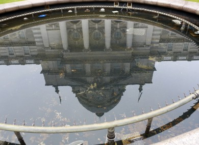 Government Buildings reflected in a fountain (File Photo)