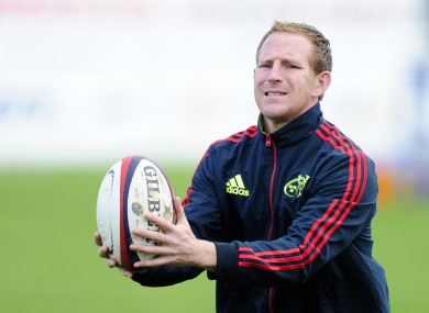 Prendergast working with the Munster 'A' team in 2012.