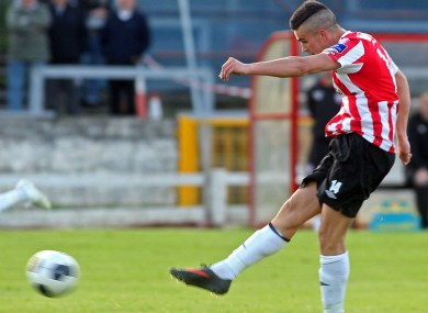 Derry's Michael Duffy scored a hat-trick yesterday.