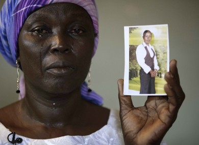 File photo of Martha Mark, mother of kidnapped schoolgirl Monica Mark