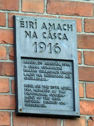 The site of the surrender of Irish Rebel leaders to crown forces after the 1916 Rising.