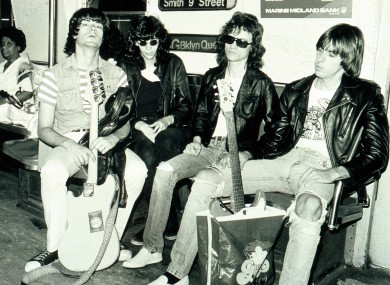 Tommy Ramone (second from right) and The Ramones in the 1970s