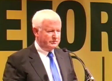 Frank Flannery speaking at the MacGill Summer School