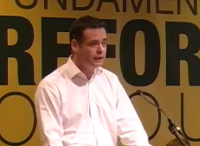 Pearse Doherty at the MacGill Summer School earlier today