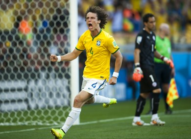 David Luiz was in goal-claiming form against Chile.
