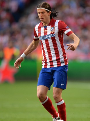 Filipe Luis pictured playing for Atletico Madrid.