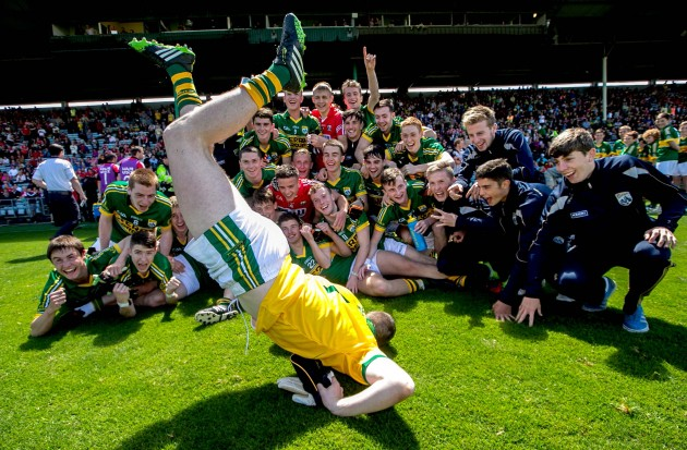 The Kerry team celebrate
