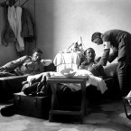 Italian troops in a hospital during the First World War.<span class=