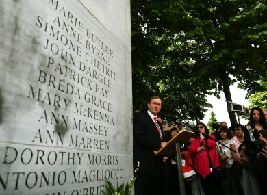 Enda Kenny speaks at the 40th anniversary of the bombings.