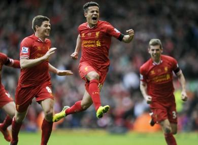 Coutinho: scored five goals for Liverpool last season.