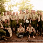 Members of the 1st Australian Imperial Force at a camp in Australia (circa 1916).<span class=