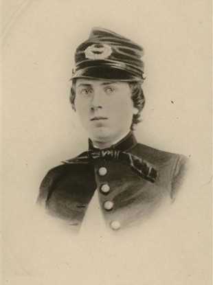 This undated photo provided by the Wisconsin Historical Society shows First Lt. Alonzo Cushing.