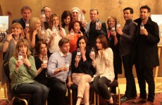 The Downton Abbey cast have embraced that water bottle blooper